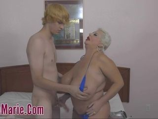 Highly thick promiscuous mommy With A 18-Years-Old twink
