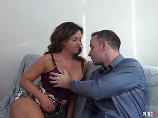 Purblind Milf enjoys will not hear of go forth bestie