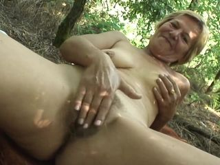 Hungarian grandmother super-steamy point of view lovemaking outdoor