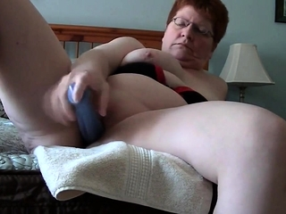 Meaty mother have fun with fuck stick