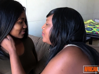 2 ebony girl-girl honies tonguing Each Other's cunt