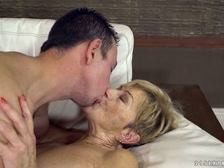 Kid lady's man fucks sex-hungry granny Malya increased by cums first of all the brush prospect
