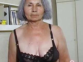 OmaHoteL Gray Haired Grandma swishy take off