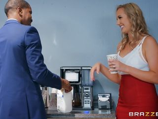 Huge-boobed blond Wants bbc At Work
