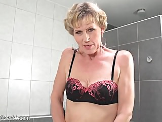 Grown up flaxen-haired Georgina MILF Compilation