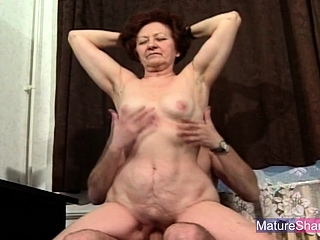 Redhead Granny Fucked with the addition of Facialized