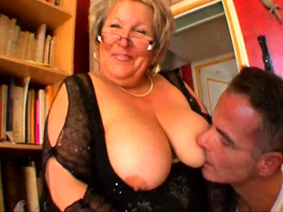 French mature plumper Carole analfucked