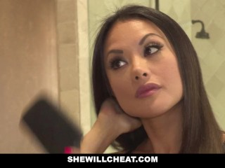 SheWillCheat - chinese wifey smashed By camera operator big black cock