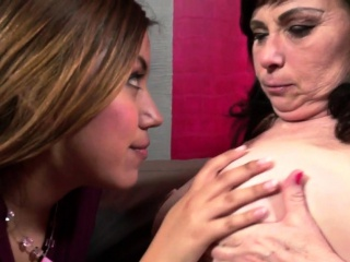 Of a female lesbian granny pussylicking splendid young