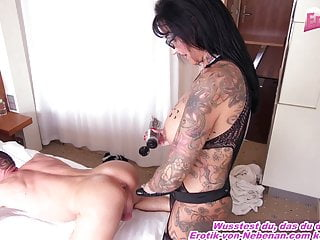German female dom gal pummels man with strap dildo buttfuck jizm Userdate