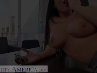 Insatiable America - Anissa Kate smashes the camper salesman to get a nicer deal!!!!