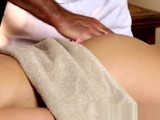 Huge-titted honey gets touched while being filmed