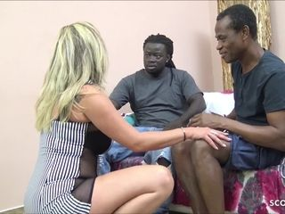 SAGGY bra-stuffers MATURE tutor three-way MMF poke by big black cock fellows