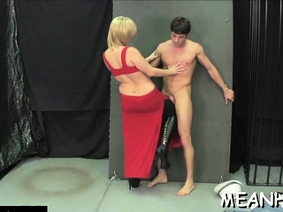 Racy floosy gets sissy gratified
