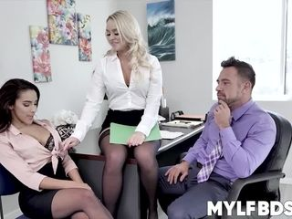 Predominance three-way with unaware and uber-sexy applicant