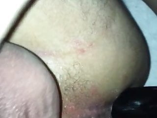 Wifey pokes hubby with rigid belt dick