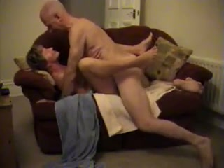 Bald mature guy fucks my pussy in a missionary position