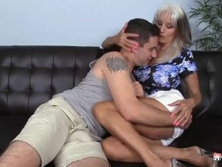 Sally D Angelo Helps Her Grandson Learn The Art Of romping