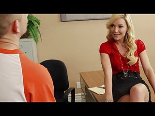 Wondrous  light-haired Laura Bentley well-prepped for his chisel in her pus