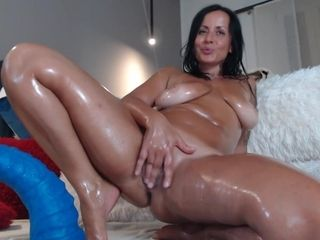 Ample titty mommy blows a load rock-hard Again - web cam cougar
