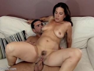 Single mommy with monstrous mounds gets money-shot after having joy with her fucktoy man