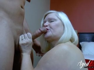 Warm mature with monster jugs seducing comfortable stud