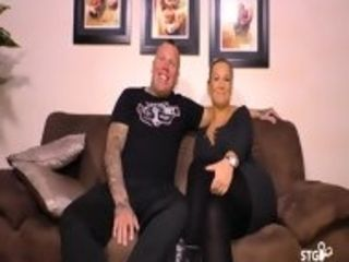 SEX TAPE GERMANY - Busty German Babe And Tattooed Partner Fuck During Their First Time Porn
