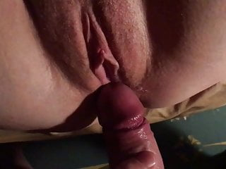 Ginger wife's cock-squeezing coochie packed