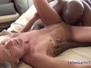 Titillating ample ebony boy And lean grandma - bi-racial