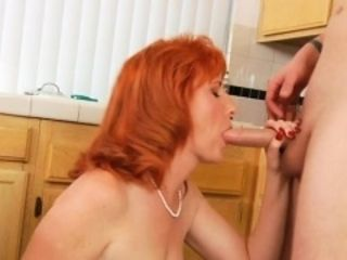 Passionate older chick goes hardcore to get sticky creampie