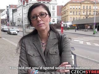Timid Czech schoolteacher deep throats My shaft
