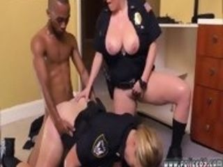 Cougar youthful boy and blondie drills first-ever time dark-hued masculine squatting in home gets our cougar