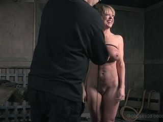 Addicted to romp cougar Dee Williams gets her milk cans tied and disciplined