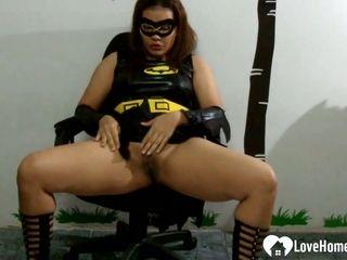 Super hot mummy rams her coochie with undies