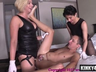 Super-naughty dominatrixes female dominance Pegging
