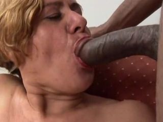 Sex-starved grandmother Eva May received big black cock inwards fuckbox
