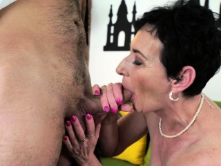Oversexed granny gets railed