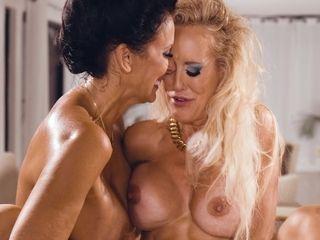 Intense damsel Reagan Foxx has an affair with provocative assistant Brandy enjoy