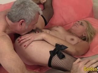 Mature mega-slut Cristine Ruby Has Her fur covered vagina porked by a Geezer