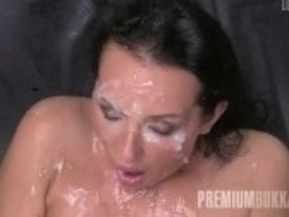 """Premium mass ejaculation - Carolina Vogue guzzles 67 humungous throatful cumshots"""