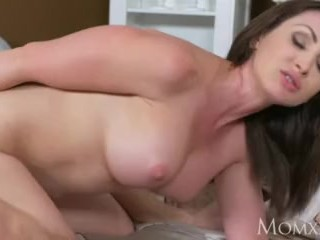 Old lady sultry superannuated Milf takes dwelling trifle young man outladded toer gym added to teases him suck up to creampie